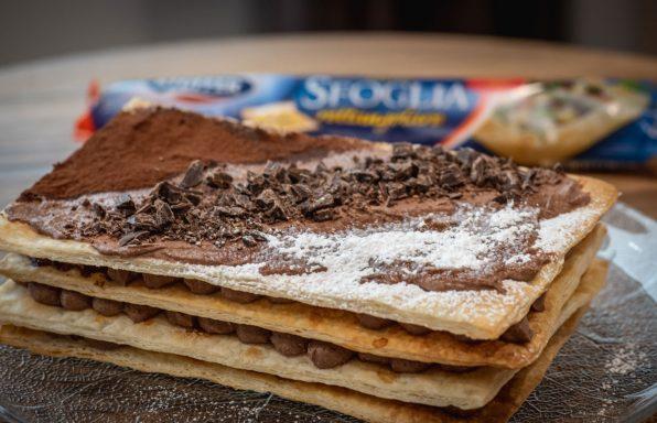 millefoglie con mousse di zucca e cioccolato